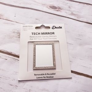 Brand new Gold Rectangle Crystal Phone Mirror